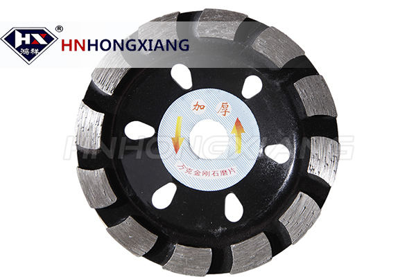 Horseshoe shape diamond cup wheel